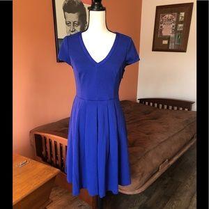 BODEN royal blue v-neck short sleeved dress